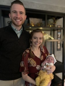 Tony Goodwin and Kaitlin Goodwin with daughter Winnie
