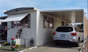 mobile home inspection image of mobile home exterior