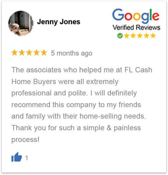 sell my house in florida without a realtor happy review by Jenny