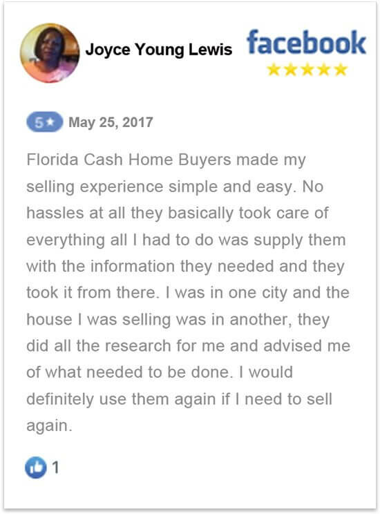 sell my house in florida without a realtor happy review by Joyce