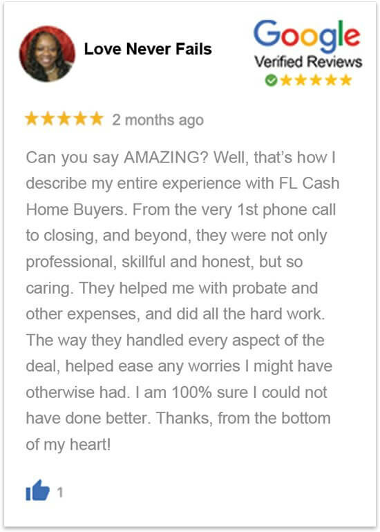 sell my house in florida without a realtor happy review by Lynette