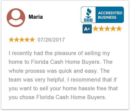 sell my house in florida without a realtor happy review by Maria