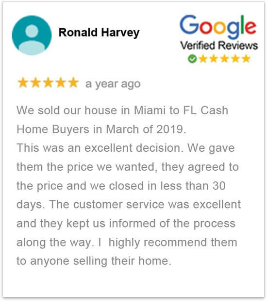 sell my house in florida without a realtor happy review by Ronald