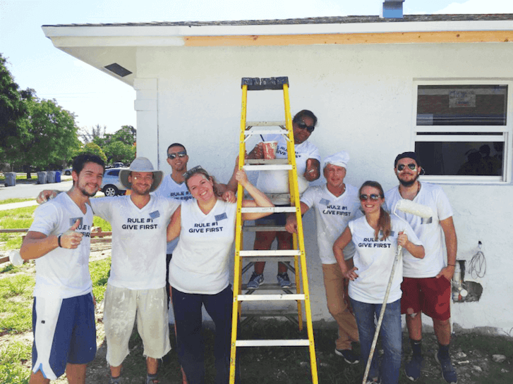 florida reputable house buying company in a habitat for humanity event