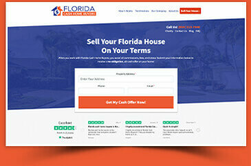 request an offer page for selling your house fast in florida for cash
