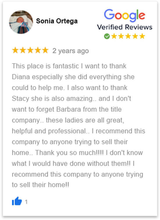 happy review by Sonia who sold her house in florida fast without a realtor to florida cash home buyers