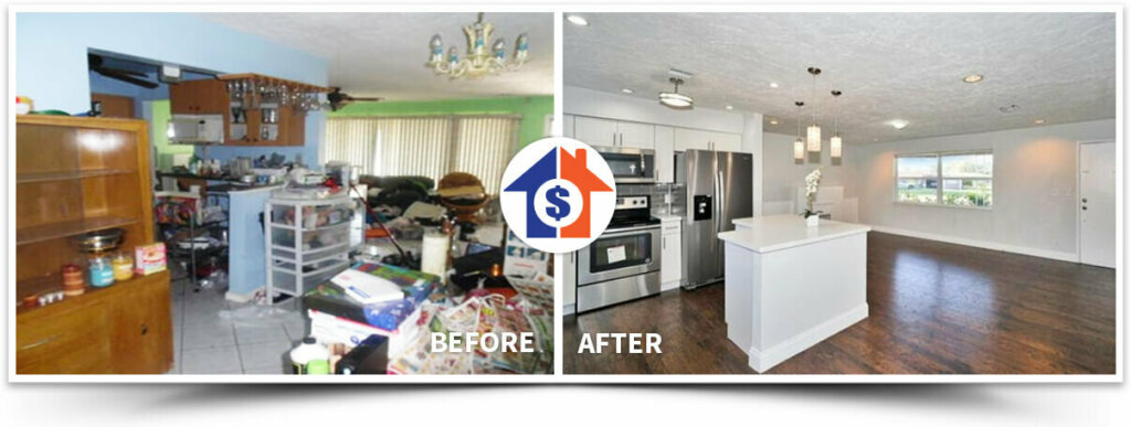 sell your house in florida as is without cleaning or fixing anything just like the one in this picture