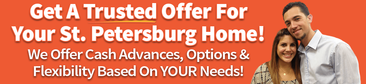 a picture showing how you can sell your house in st. petersburg fast with a trusted cash offer