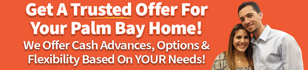 A picture of owners saying that you can sell your house in Palm Bay quickly with a trusted cash offer
