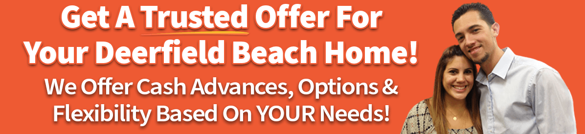 A picture of owners saying that you can sell your house in Deerfield Beach quickly with a trusted cash offer