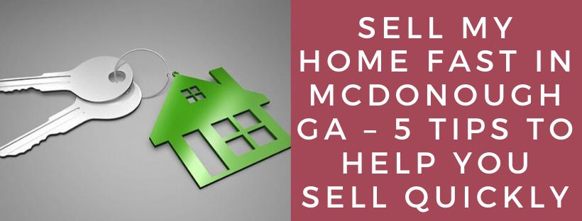 We buy houses in McDonough GA