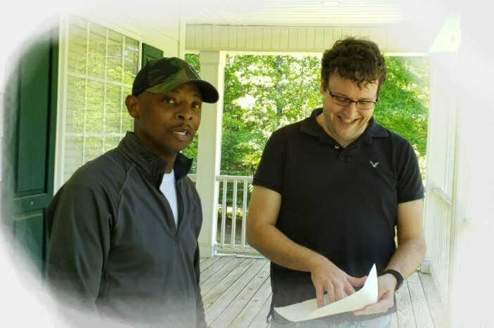 Sell my house fast in Duluth, GA to Resideum's Brent Bagley pictured with a homeowner whose house we bought as-is in 21 days.