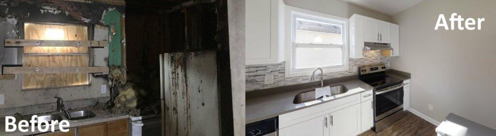 Kitchen Renovation after fire