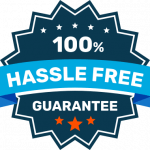 100% hassle free logo of we buy houses nashville company