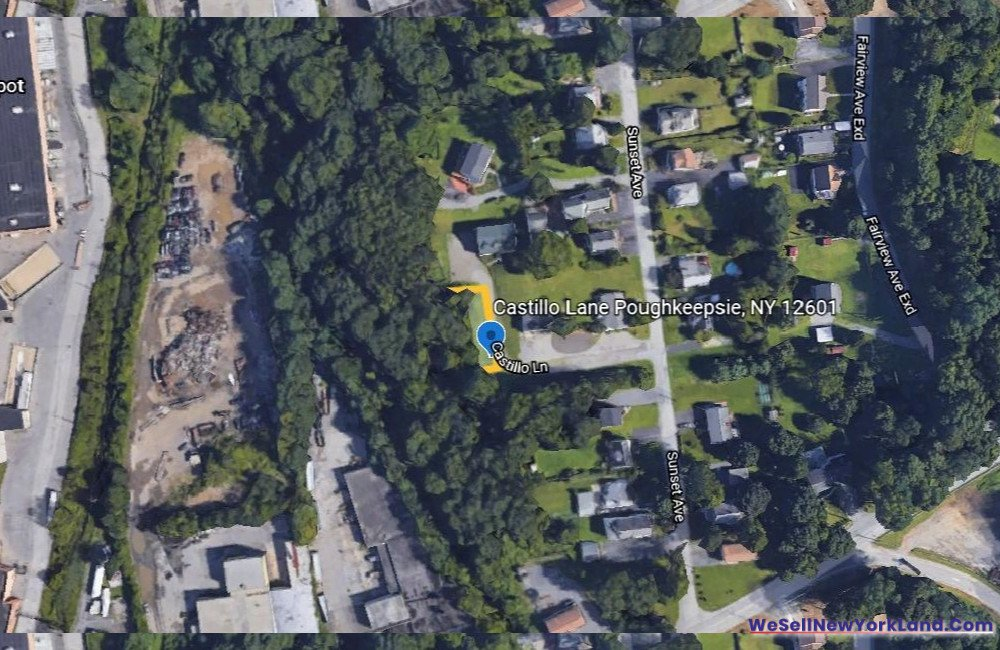 Castillio Lane, Poughkeepsie NY Map www.WeSellNewYorkLand.com