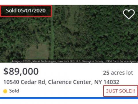 Land For Sale 10670 Cedar Rd, Clarence Center, NY 14032 js comp www.WeSellNewYorkLand.com