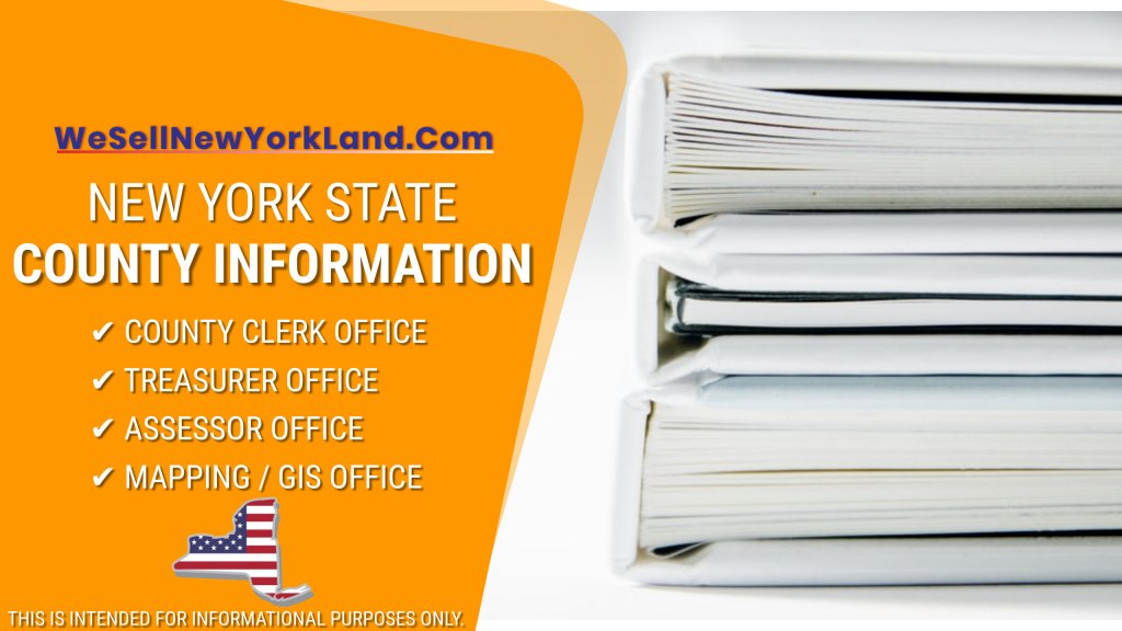 NY Land For Sale New York State County Information Banner www.WeBuyLandNewYork.com