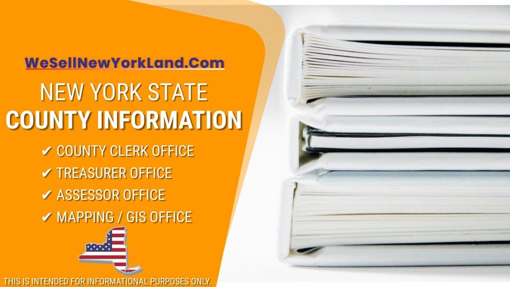 NY Land For Sale New York State County Information Banner www.WeBuyLandNewYork.com