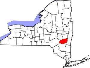 Greene County NY map