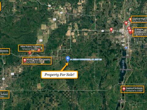 Land For Sale Snowridge Trail, Elmira, MI Main www.WeSellNewYorkLand.com