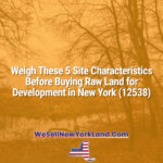 Weigh These 5 Site Characteristics Before Buying Raw Land for Development in New York (12538)
