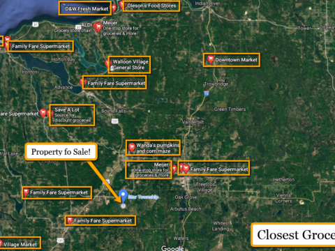 Land For Sale Lot 468 Pinecrest Dr. Elmira, MI