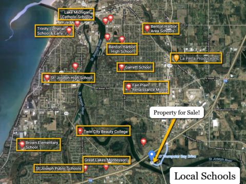 Land For Sale 587 Trumpeter Bay Drive, Benton Harbor, MI