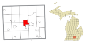 Location within Jackson County