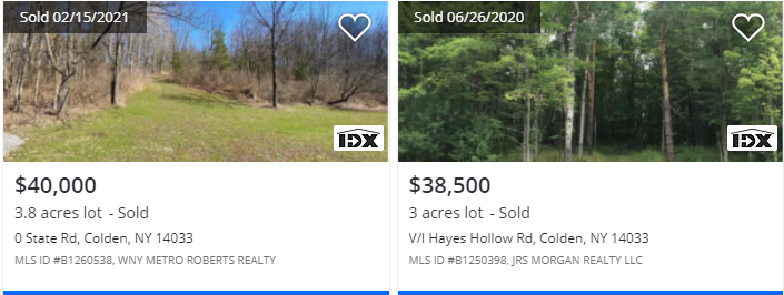 0 Holland Glenwood Rd, Colden, NY Comparable Land