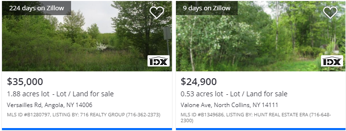 12372 Sisson Hwy, North Collins, NY Comparable Land