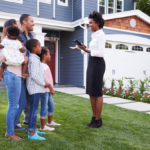 Real estate agent selling a home