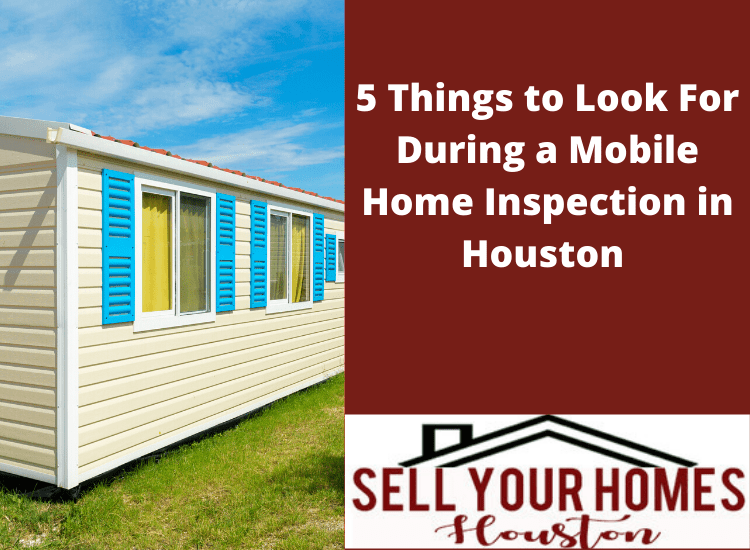 Mobile home inspection in Houston