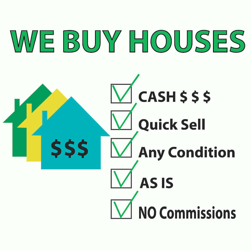 we buy houses sign