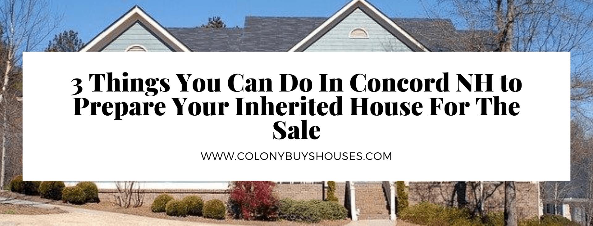 we buy properties in Concord NH