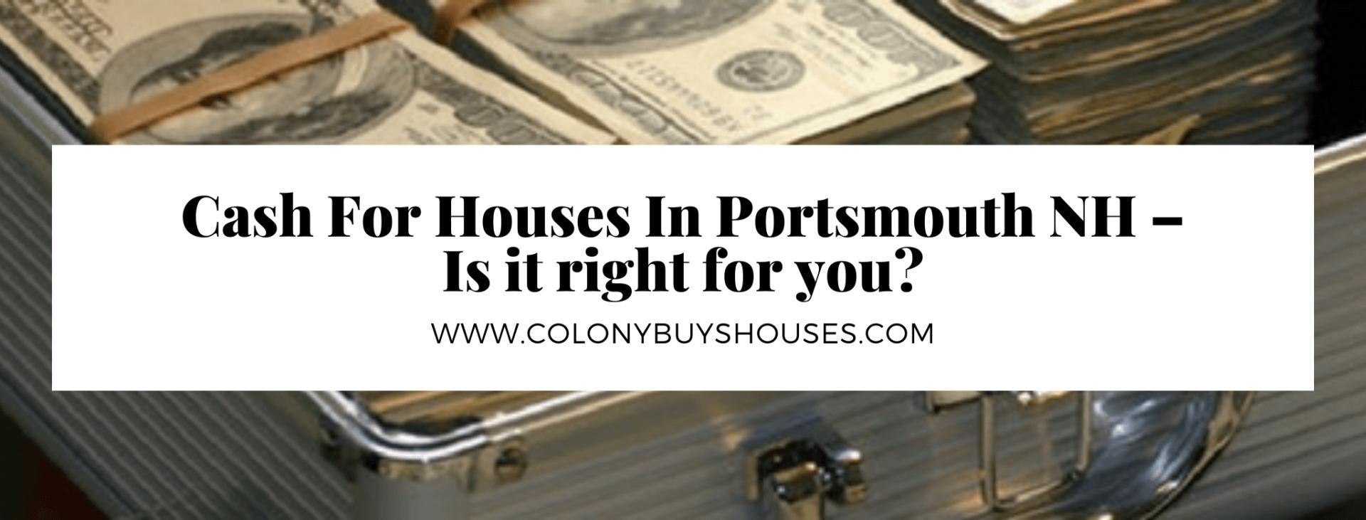 we buy properties in Portsmouth NH