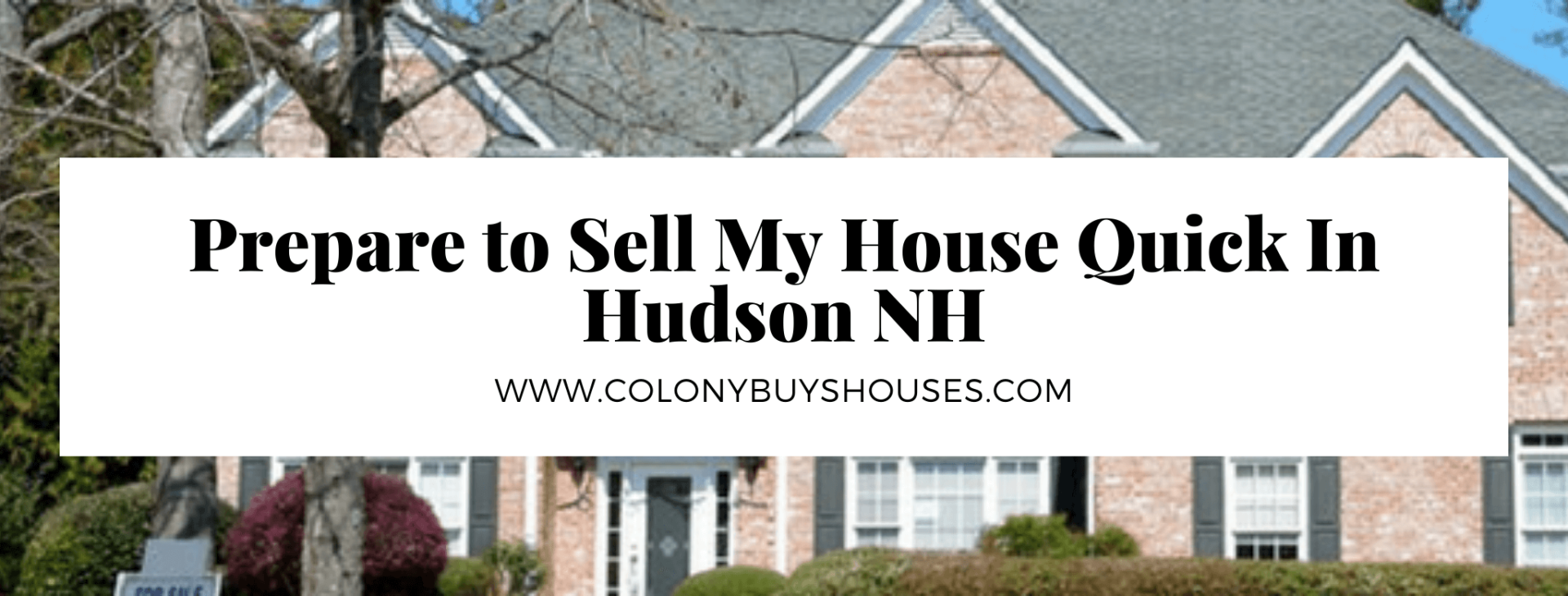 Sell my property in Hudson NH