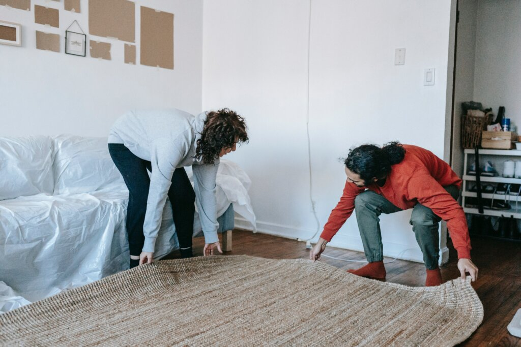 removing the rug