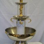 3 gal punch fount with gold