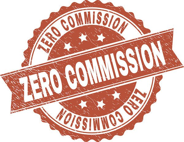 home investors logo that says zero commission