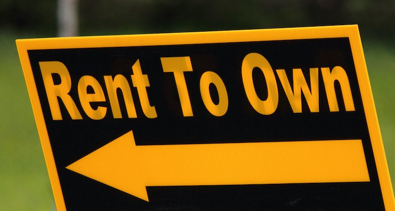 a rent to own sign in Virginia Beach VA