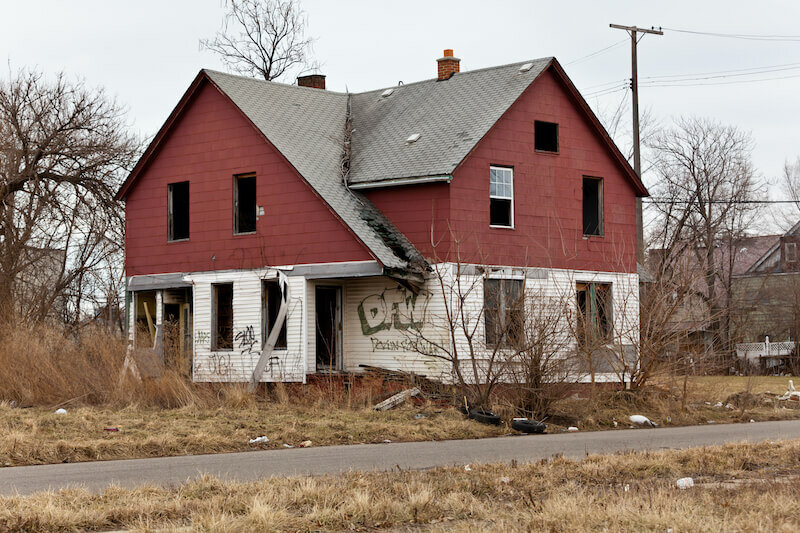 badly damaged house for sale as-is