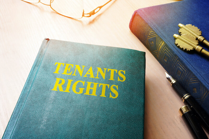 Tenants rights book and keys from apartments.