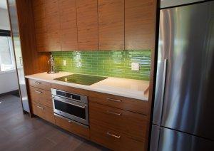 Custom walnut cabinetry