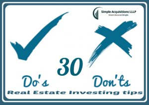 real estate investors dos and don'ts