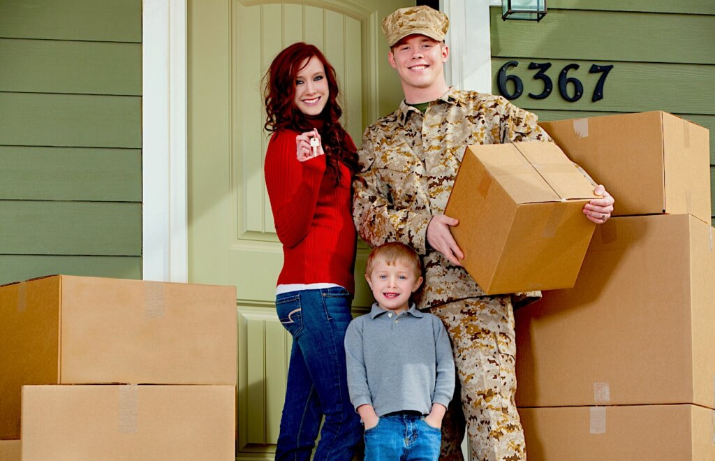Military family moving to house