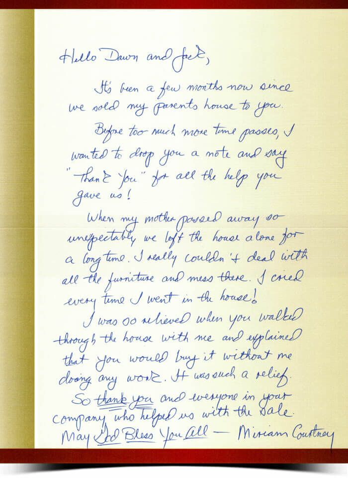 Read This Thank You Letter