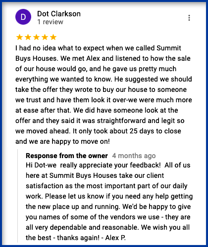 Dot Contacted Us To Find Out How We Buy Houses In Massachusetts.