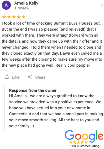They Sold Their Property For Cash And Gave Us A 5 Star Google Review