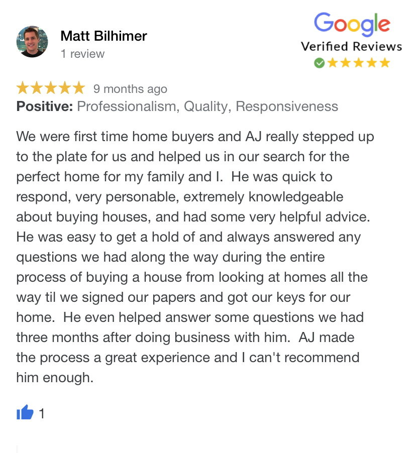 We helped Matt and his family buy a house in Olathe, KS