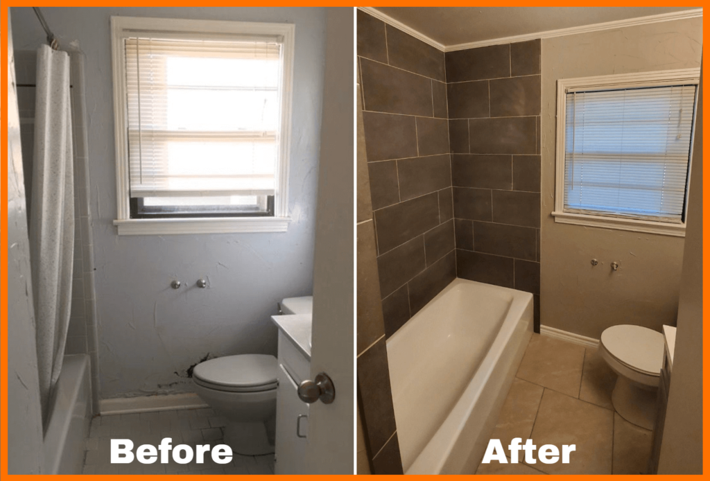 Bathroom Rehab Before and After